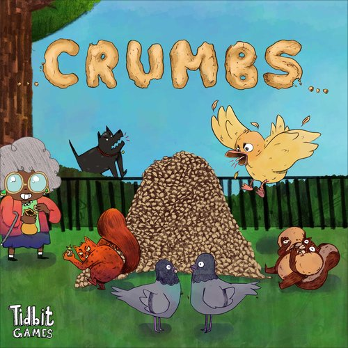 Crumbs   Crumbs is a game reenacting the intense battles that probably occur every day right outside your doorstep. A sweet, innocent little granny has decided to spend the day enjoying the warm and welcoming sun by tossing some bread crumbs to the local fauna. She remains blissfully unaware, however, of the vicious wars occurring over her precious bread crumbs.