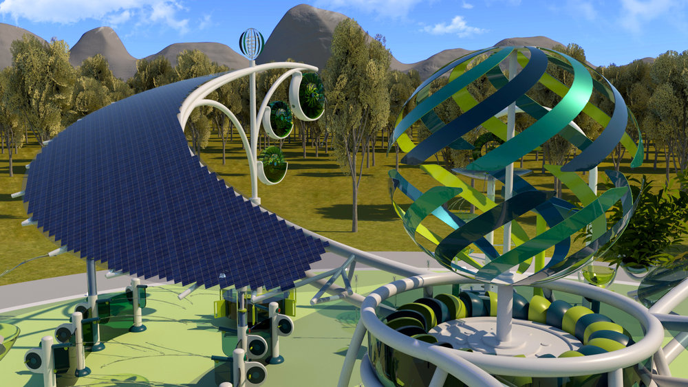 Impact Attractions  |  Sycamore, solar wings & icon feature  |  Patent Pending
