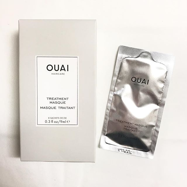 Bought these @theouai single packet hair masques at #sephora on a whim...and 🙌🏼 They've been our #secretweapon in restoring our hair after a Summer of sunshine and chlorine 💁🏻😉#crueltyfree #tryittuesday