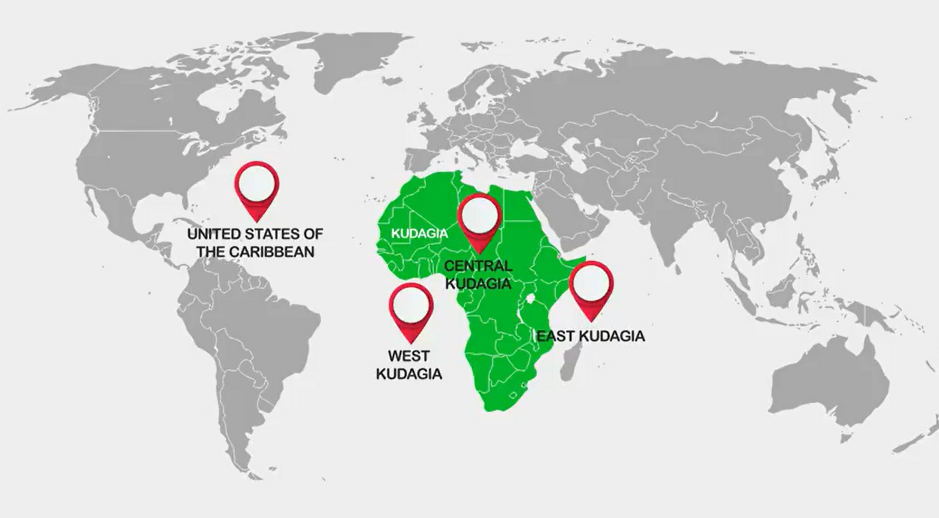 4 NEW NATIONS - AFRICA RENAMED KUDAGIA IN 2030