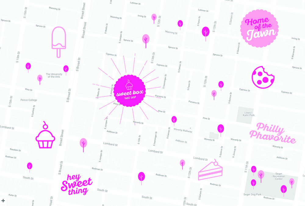 SweetBox Bakery Philadelphia Map