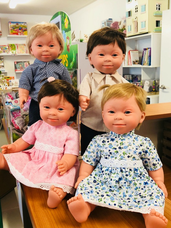 Baby dolls with Down Syndrome - Limetree kids may not be well-known but they really should be. They're the first company to make anatomatically-correct baby dolls with Down Syndrome facial features. I can't think of a better and more hands-on way to teach kids about inclusion.