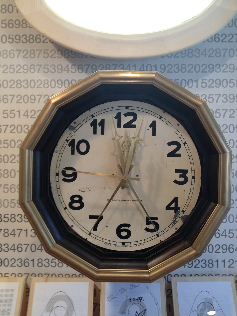 Personality of Numerals, Station Clock, 2013