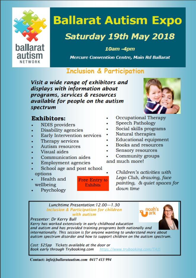 Ballarat Autism Expo Flyer