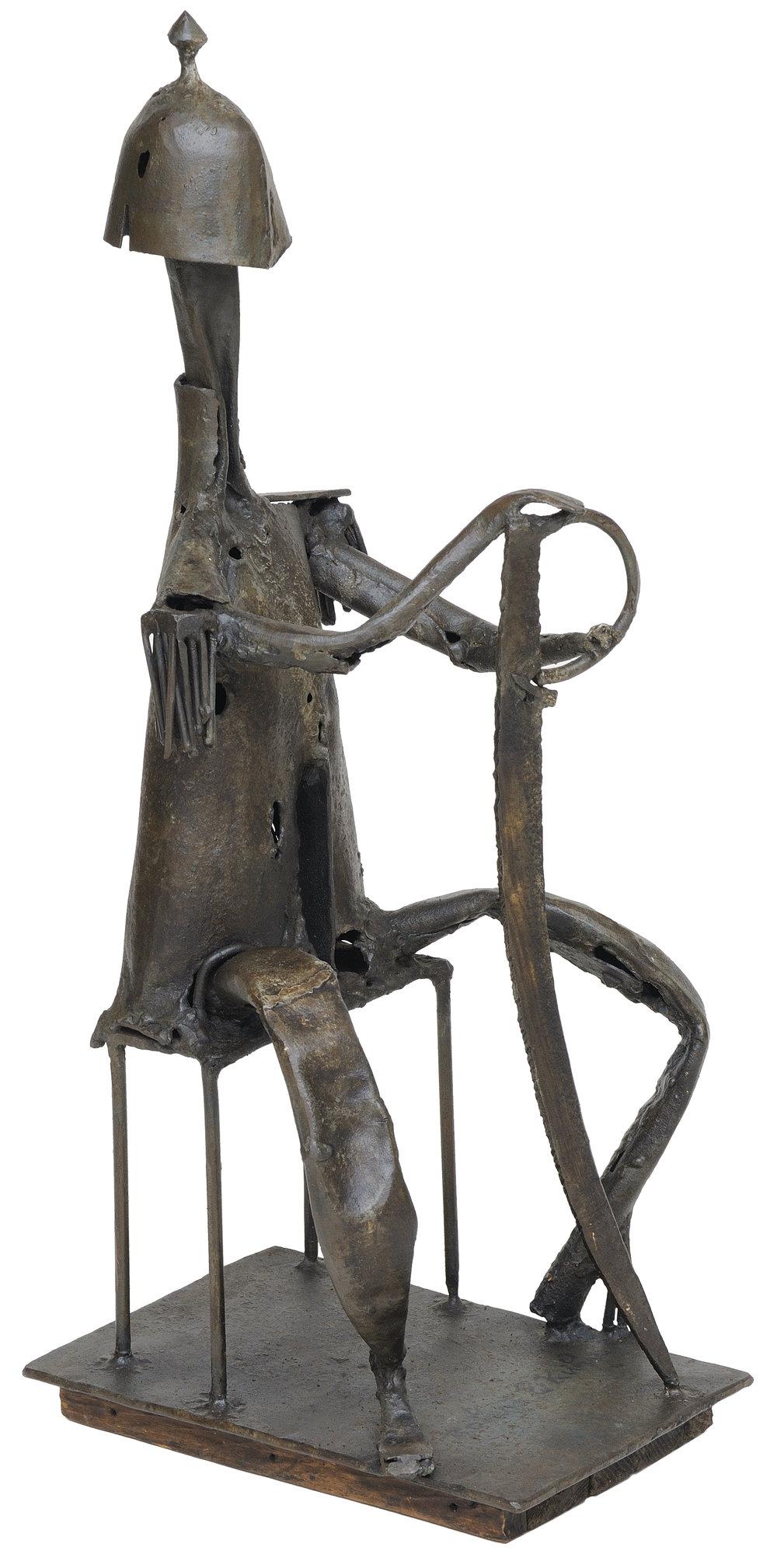 Don Quixote   aço soldado   115 X 42 cm