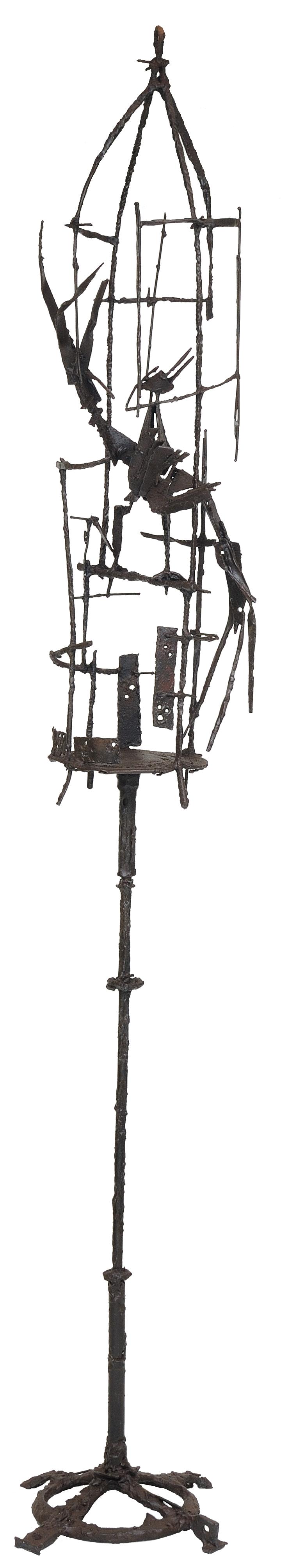 Bird cage    aço soldado  200 X 35 cm