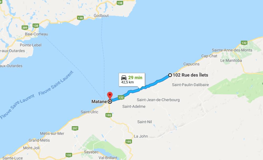 Ville de Matane - Observation de saumons, excursion en mer, restaurant de fruits de mer et bien d'autre vous attend à la Ville de Matane situé à 30 minutes des Ilets. Visitez le site officiel de la ville pour y découvrir quoi faire dans les alentours.