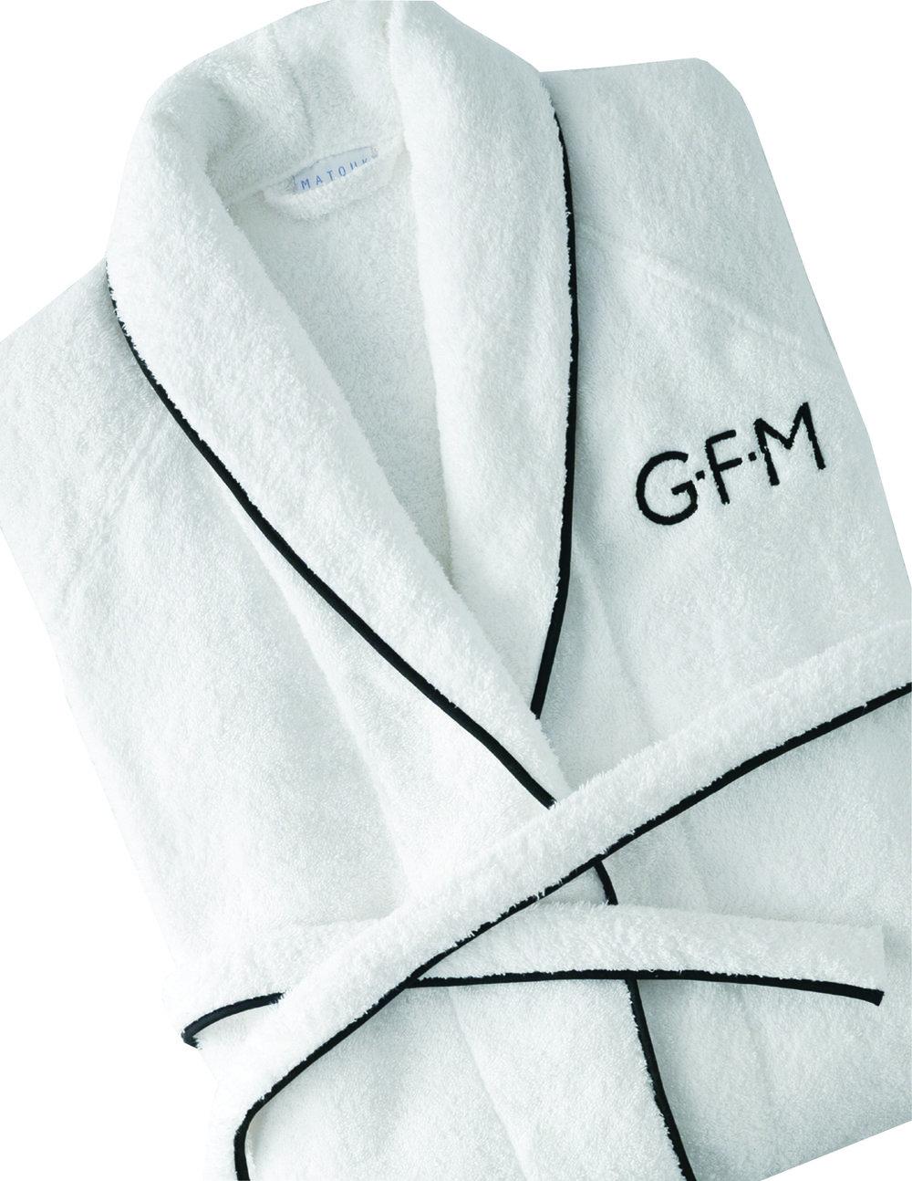 cairo robe, available at matouk