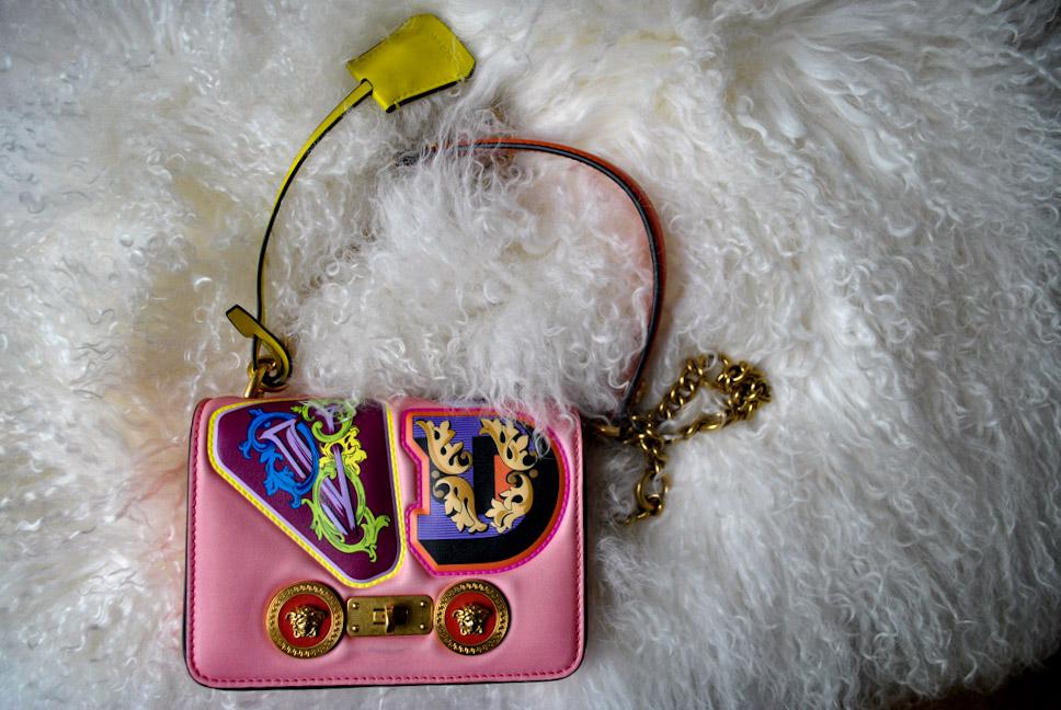 Versace Icon Small Crossbody Bag, Avaialble at NeimanMarcus