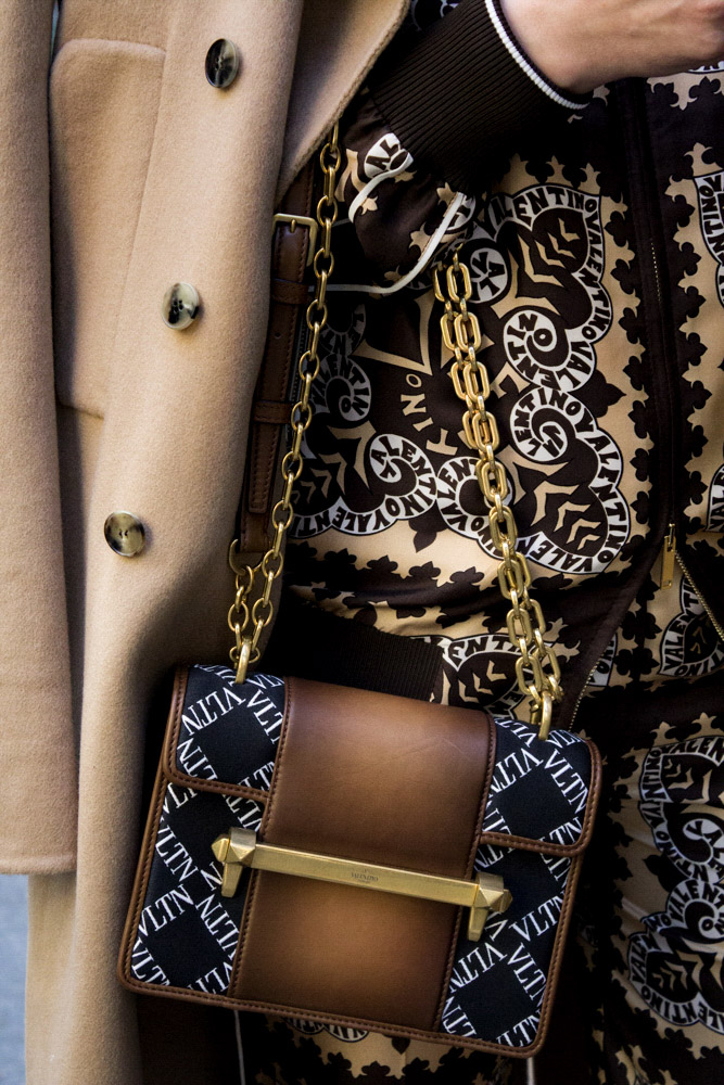 Valentino BURNISHED CALF LEATHER UPTOWN SHOULDER BAG, Available at Valentino