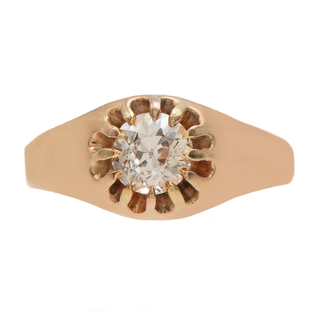 Turner and Tatler Old Euro Diamond Butter Cup Set Ring, Available at Turner and Tatler