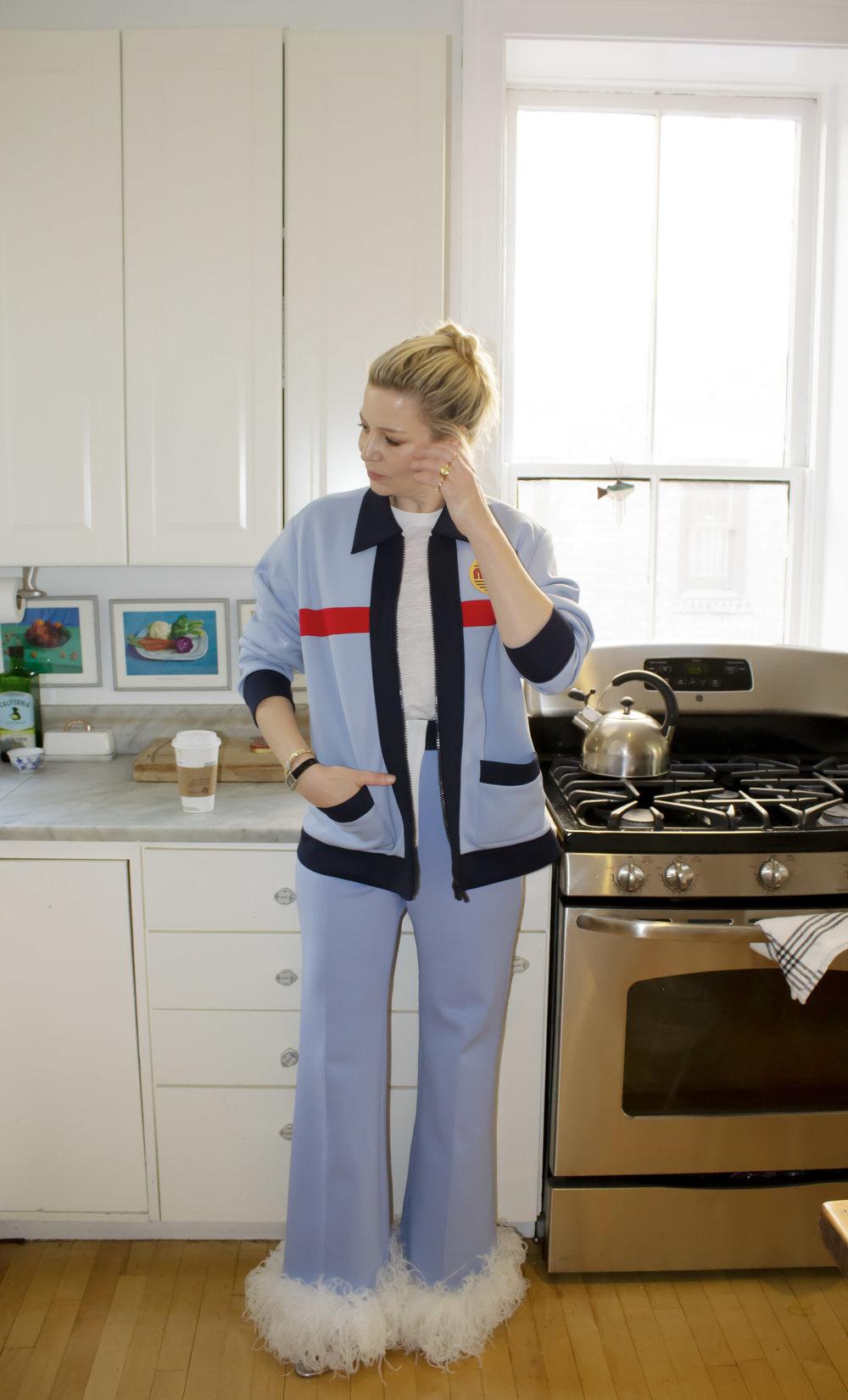 Miu Miu Jacket & Pants, Available at Ssense