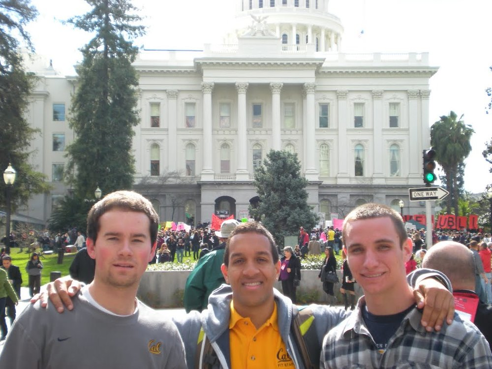 calbetas at state capitol in support of UC Students.JPG