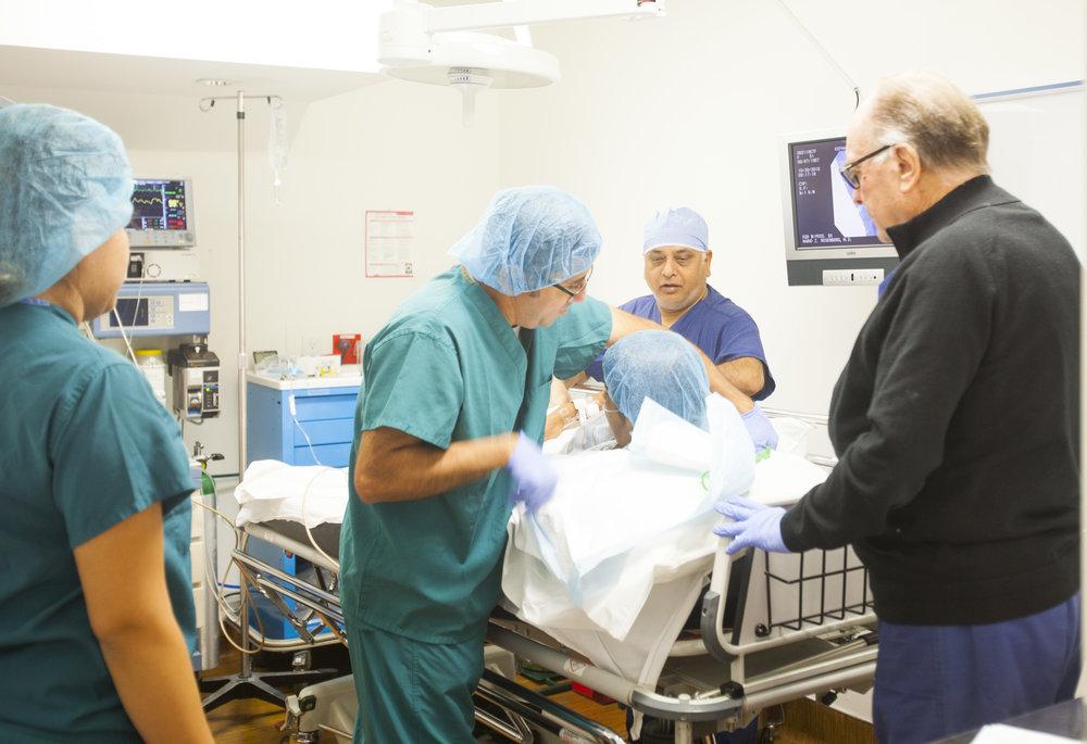 Dr. Mario Rosenberg is doing a colonoscopy is an exam.