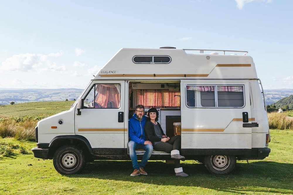 Florence and The Morgans - Ellie and Scott are touring Europe in a 1990 FIAT Ducato Elddis camper van which they renovated into their dream vanlife vehicle in just six weeks with only £1000.