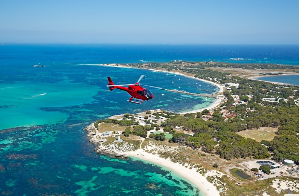 Hillarys to Rottnest Helicopter Transfer -