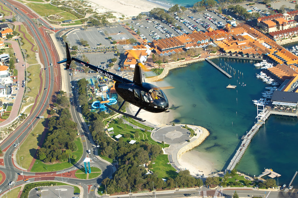 Rottnest to Hillarys Helicopter Transfer -
