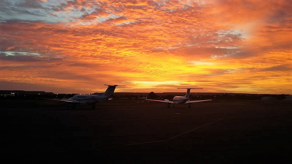 King-Air's at Sunrise, Kalgoorlie, Western Australia, 2014