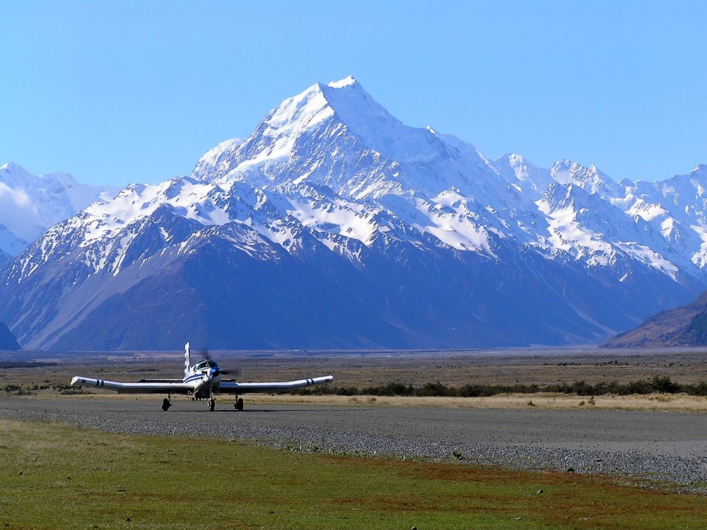 Mount Cook, Glentanner Airport, New Zealand, 2005