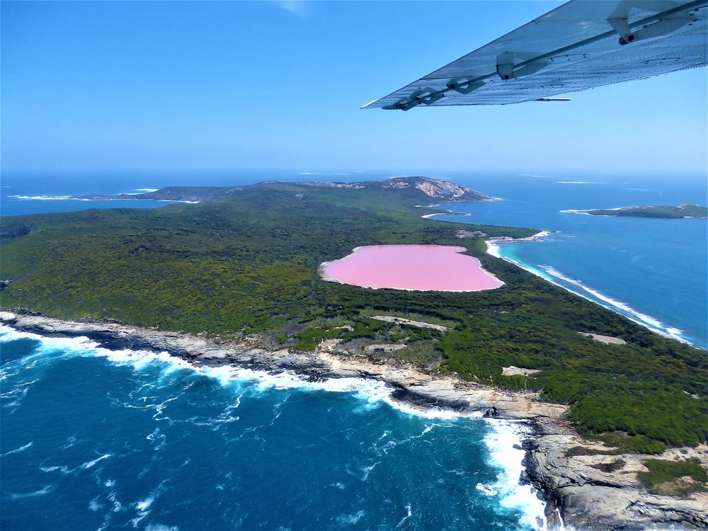 Middle Island looking west with Lake Hillier