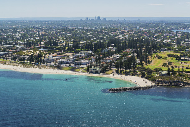 Copy of Aerial view of Cottesloe Beach