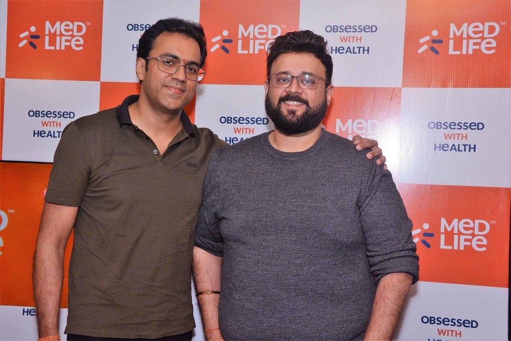(L-R) Prashant Singh, Founder, Medlife and Tushar Kumar, CEO, Medlife
