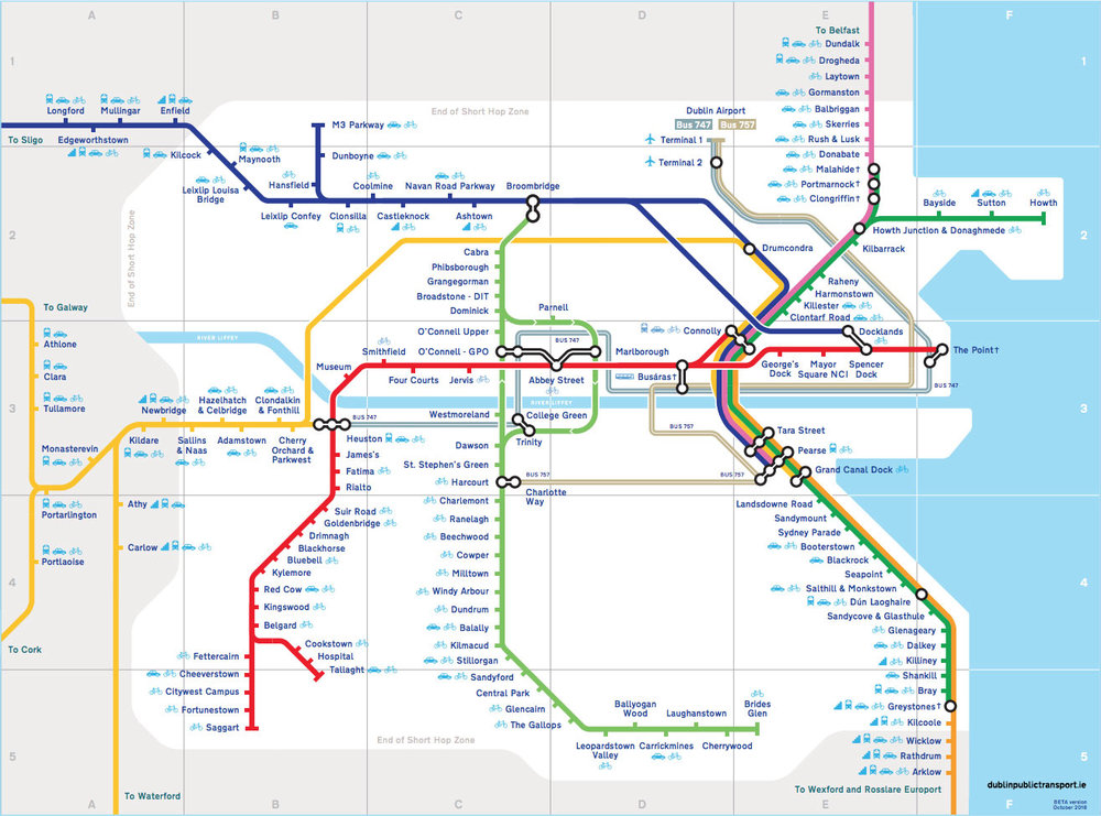 Map Of Dublin 6 Ireland.Dublin Trains Maps Travel Information And Timetables Dublin