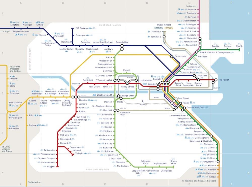 Dublin rail map - View all tram and train routes