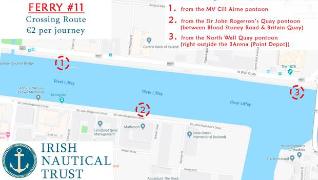 Liffey Ferry Number 11 Route