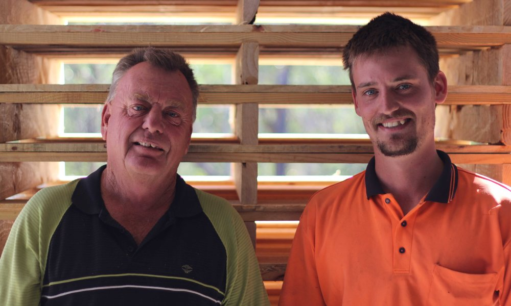 Jack Hopkins (Right) and Tom Hopkins (Left) of Pallet Recyclers Pty Ltd