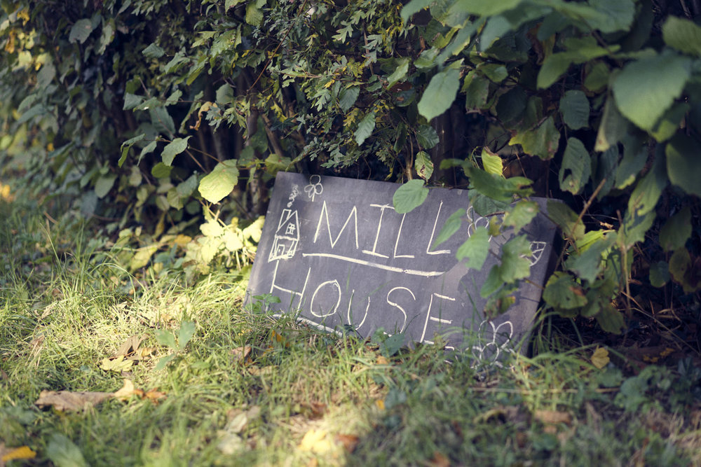 Mill House chalk sign