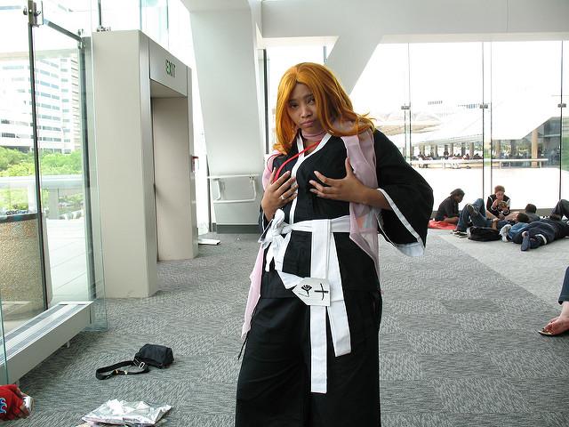 My friend Sierra cosplaying as Rangiku Matsumoto from Bleach.