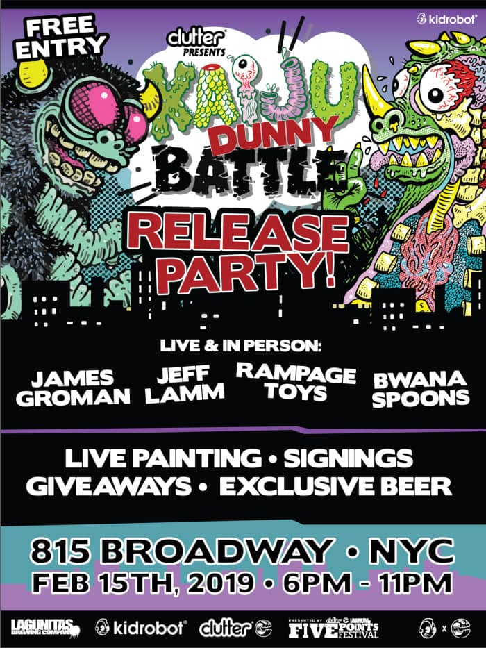 Kaiju Dunny Battle Series Release Party!