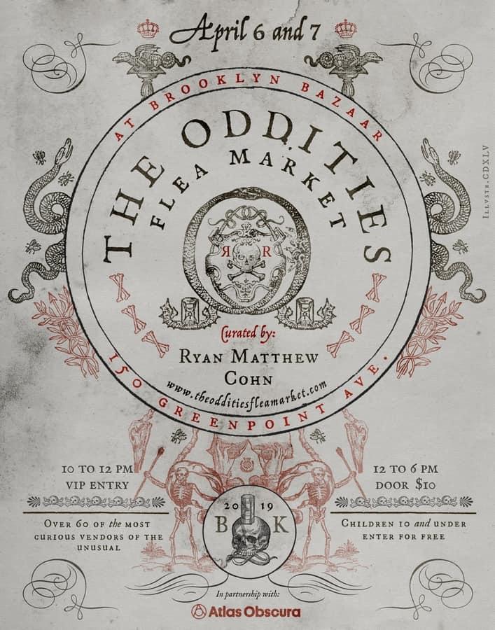 Oddities Flea Market Event Flyer