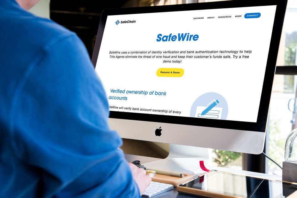 Our Products - SafeWire: Last year alone, almost $1Billion dollars were lost to wire fraud. Our technology solution, which is blockchain enabled and built with banking level security, allows title professionals and buyers & sellers to transact with confidence. We are putting a stop to wire fraud with our best in class solution, backed by a $1Million guarantee.