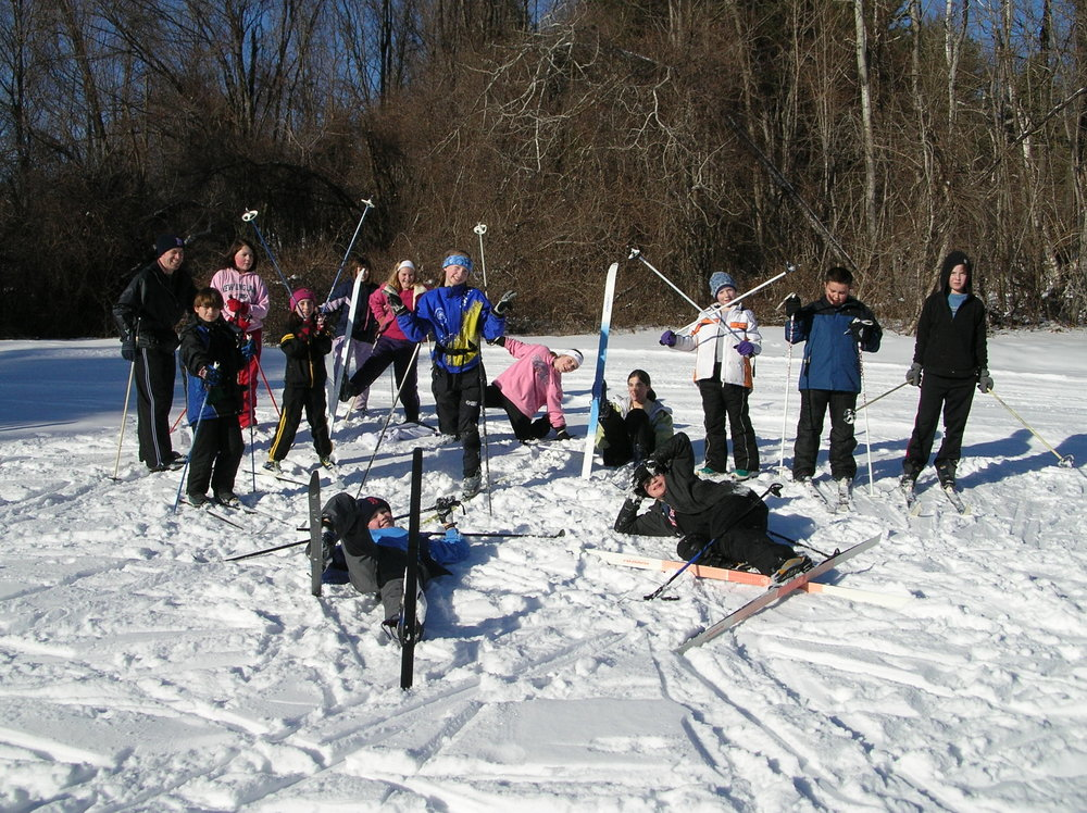 Youth Nordic Program Skiers Just Horsing Around!!!