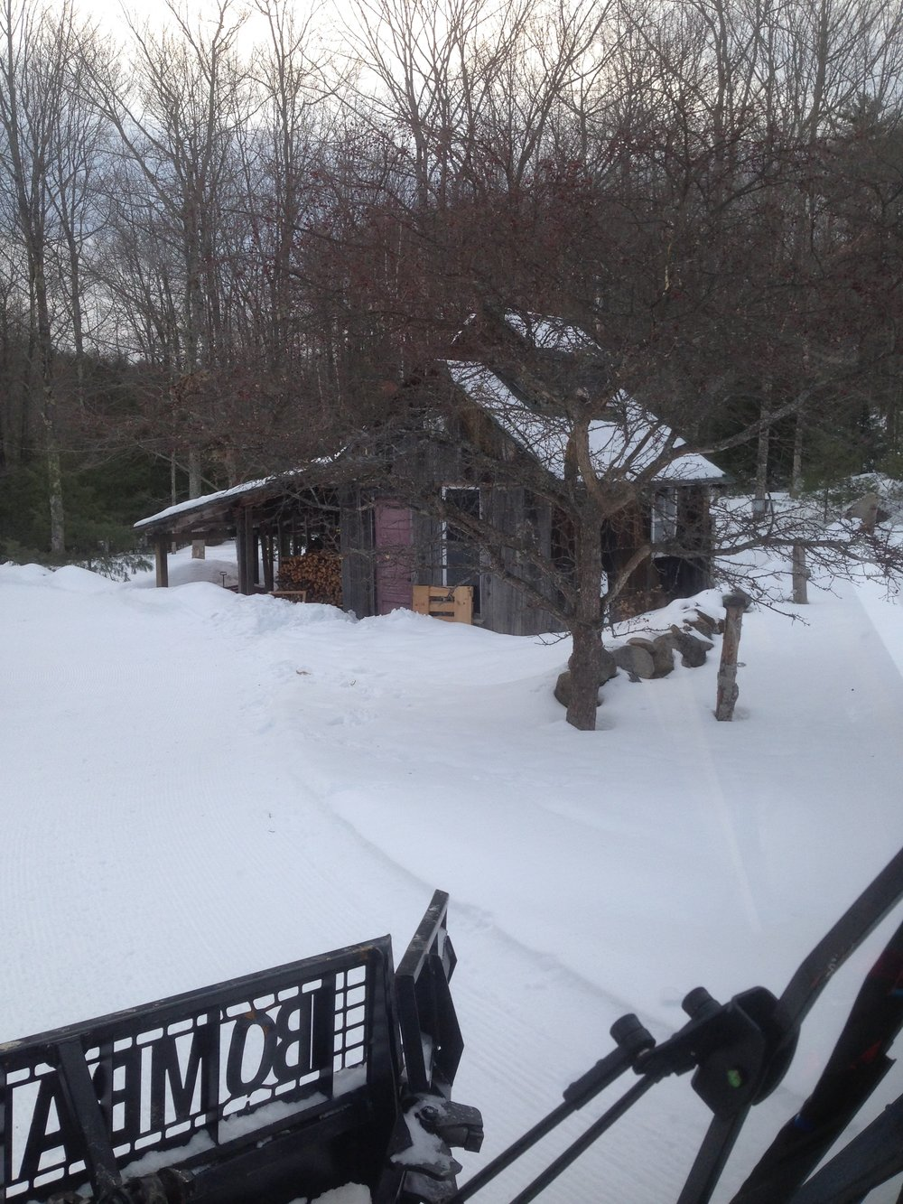 Bean's Sugar Shack ski or snowshoe accessible from the Abenaki Loop just follow the signs.