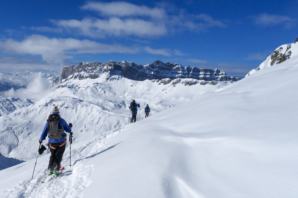 Ski touring - heading off the beaten track for an adventure