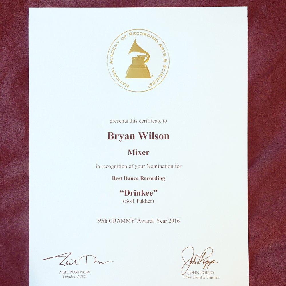 Grammy Certification