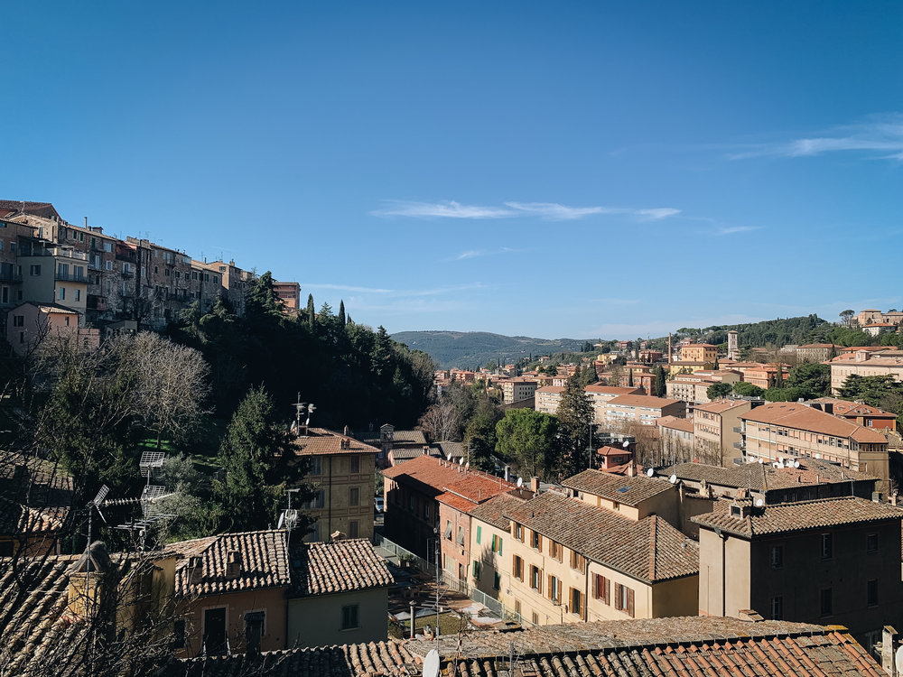 View from the Università per i Stranieri