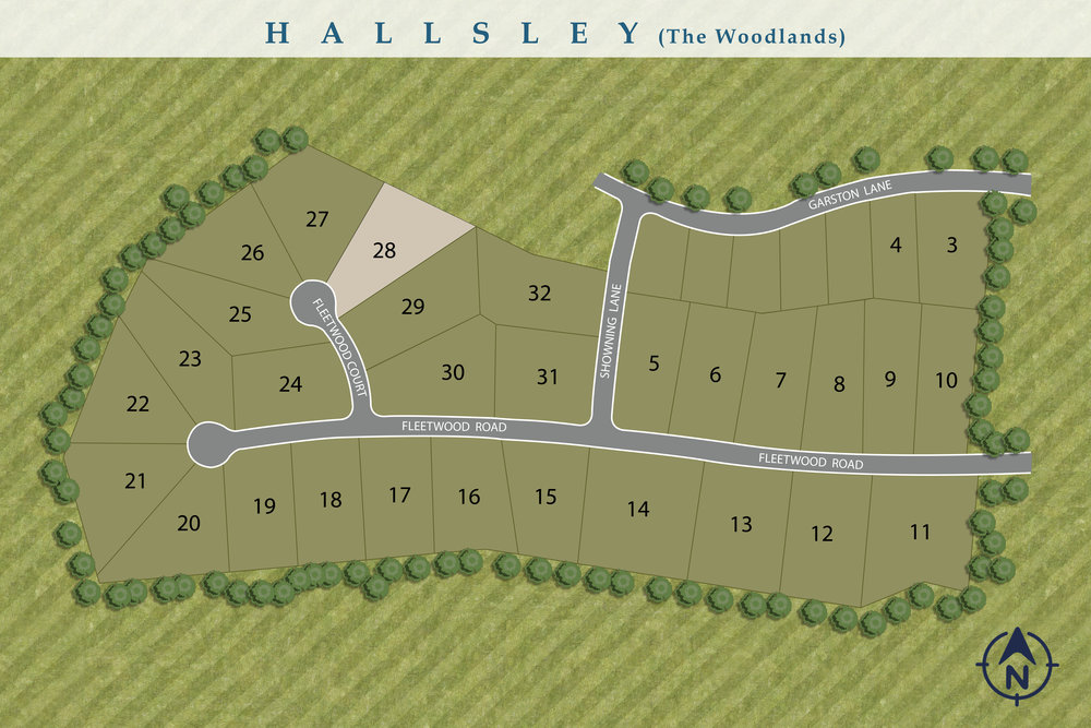 Hallsley | The Woodlands Section | New Home Sites Available