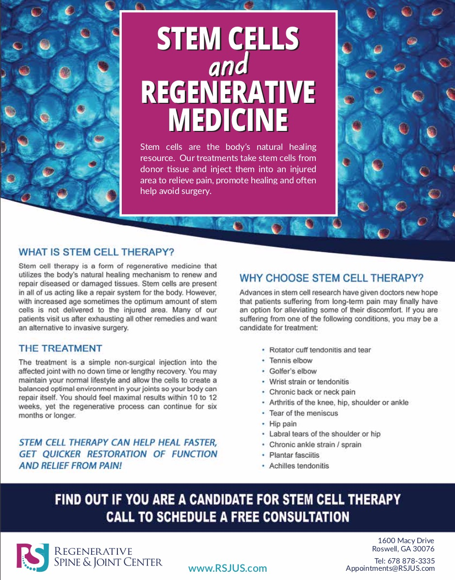 Stem Cells & Regenerative Medicine -