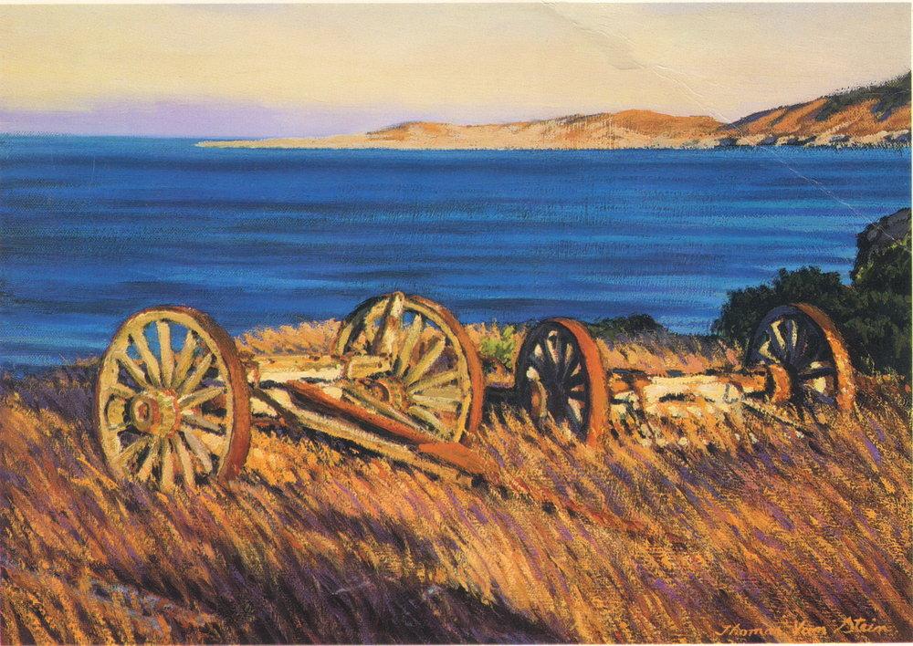 Sunset on Old Pioneers, oil, Thomas Van Stein