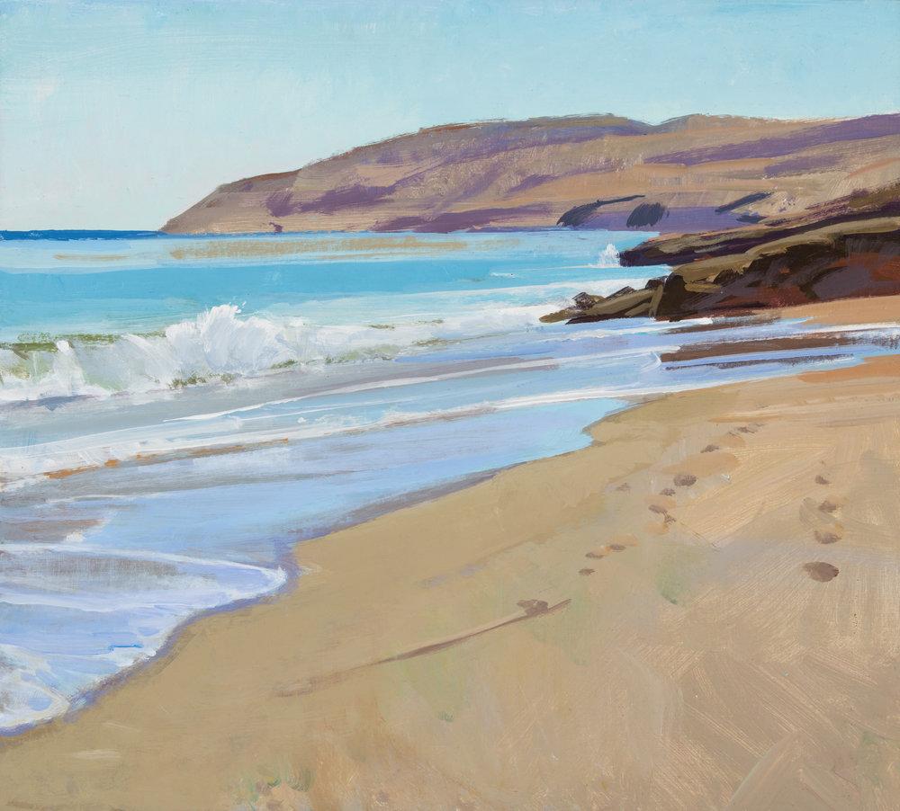 Untrammeled, Santa Rosa Island, acrylic, Marcia Burtt