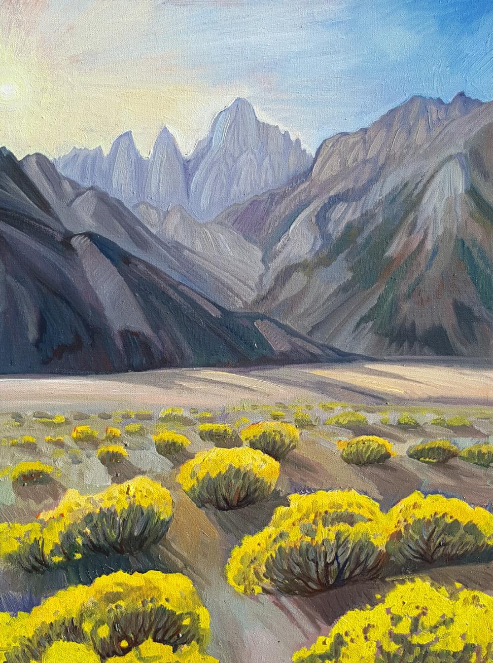 Mt. Whitney, oil, Jeremy Harper