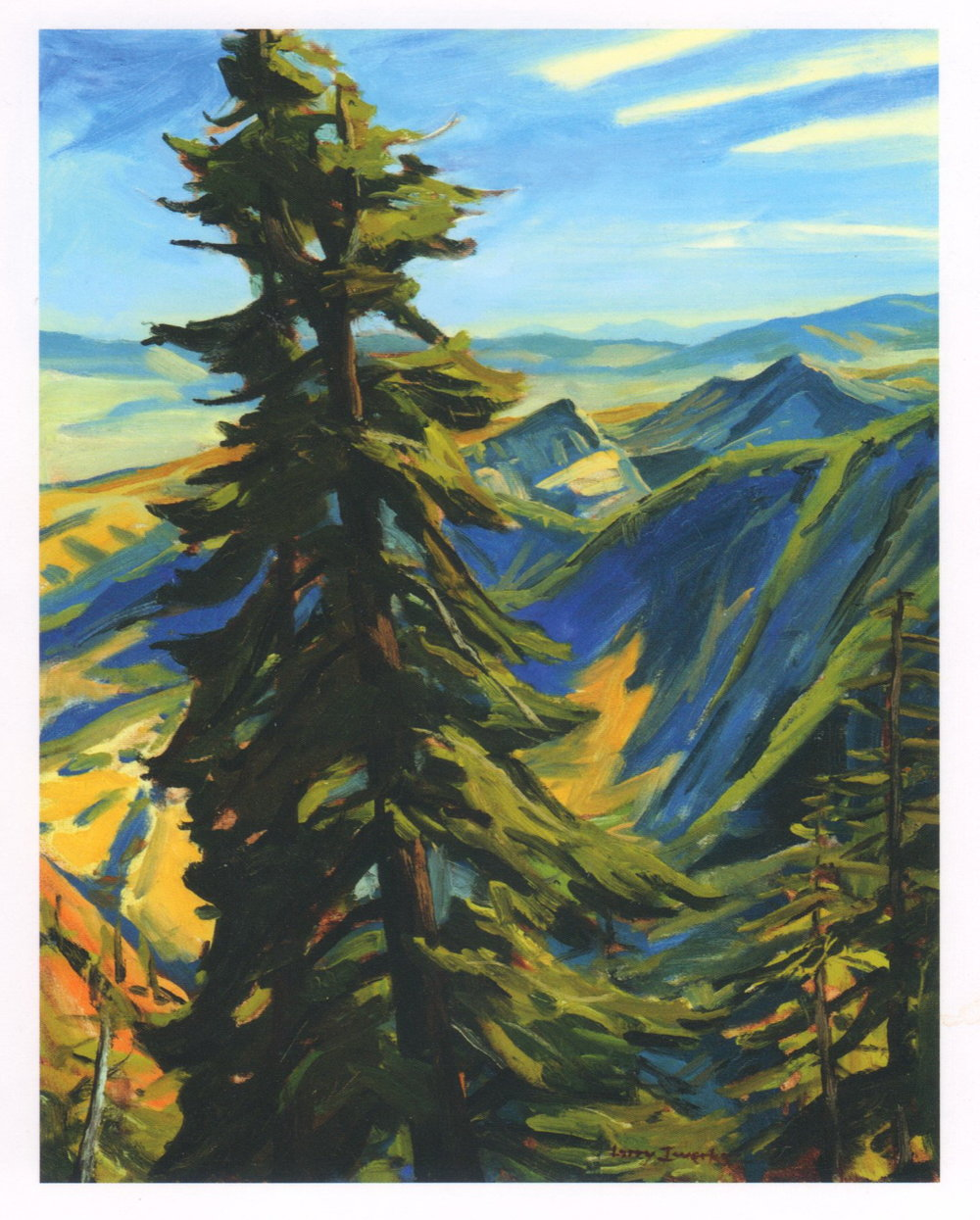 Backcountry Sentinel, oil, Larry Iwerks