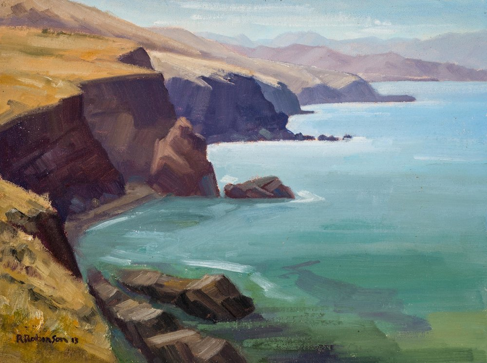 Chiefs View to Black Point, oil, Rob Robinson