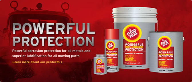 FLUID FILM® is Eureka's own unique lanolin-based brand of corrosion preventive and lubricant, used Worldwide in a multitude of industries and applications.      Protects all Metals - No Solvents - Stops Rust on Contact - Non-toxic/Non-hazardous -Long Lasting