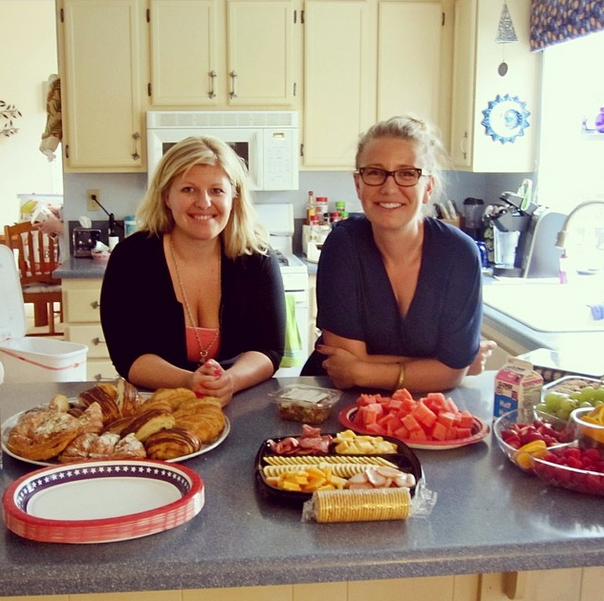 The Hive #SanDiego host, Lindsay, and our founder, Jillian, just before brunch started. August 2, 2014