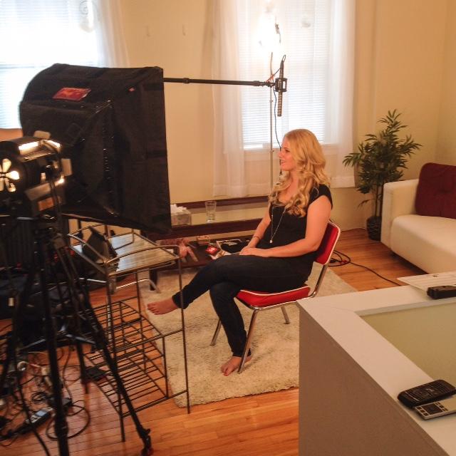 SGP TV Filming Lorrae Bradbury